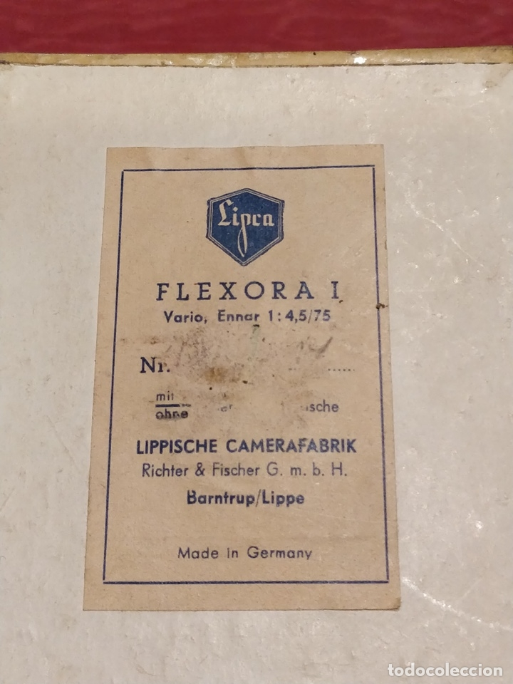 Cámara de fotos: Cámara fotográfica alemana Flexora Lipca, en buen estado, con funda, caja original y disparadores. - Foto 2 - 42412431