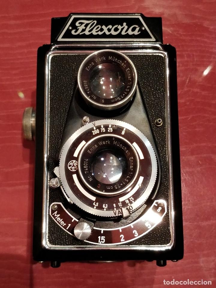 Cámara de fotos: Cámara fotográfica alemana Flexora Lipca, en buen estado, con funda, caja original y disparadores. - Foto 11 - 42412431