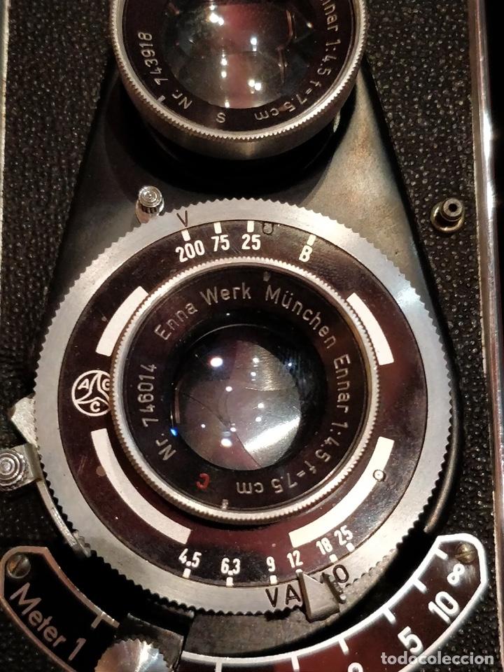 Cámara de fotos: Cámara fotográfica alemana Flexora Lipca, en buen estado, con funda, caja original y disparadores. - Foto 12 - 42412431