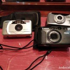 Cámara de fotos: LOTE 3 CÁMARAS. SAMSUNG FINO 40S, KODAK EASYLOAD 35 Y CANON PRIMA 5. Lote 111102943