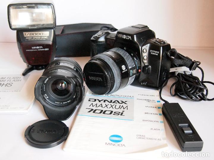 FOTOGRAFÍA ANALOGICA, MINOLTA DYNAX 700SI AUTOFOCO+ OBJETIVOS + FLASH. SE PUEDE VENDER POR SEPARADO (Cámaras Fotográficas - Réflex (autofoco))