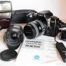 Cámara de fotos: FOTOGRAFÍA ANALOGICA, MINOLTA DYNAX 700SI AUTOFOCO+ OBJETIVOS + FLASH. SE PUEDE VENDER POR SEPARADO. Lote 142228182