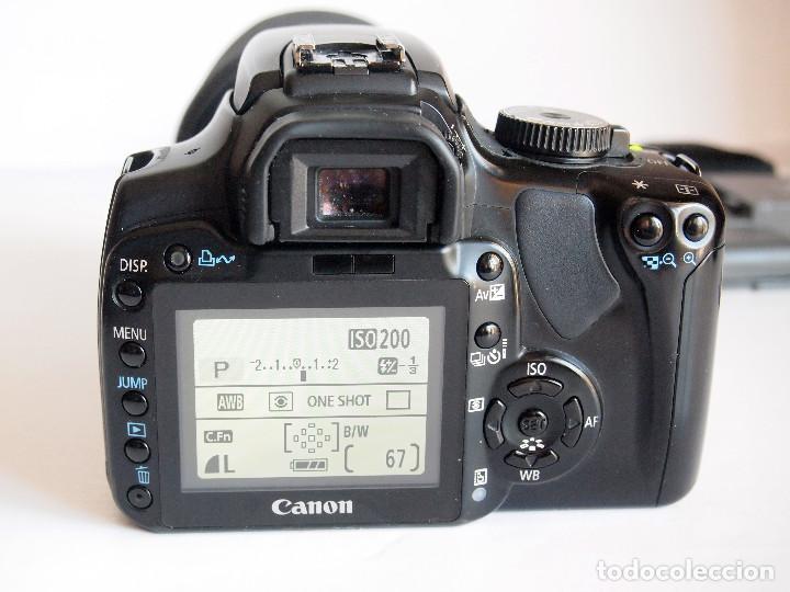 Cámara de fotos: CANON EOS 400D DIGITAL + OBJETIVO SIGMA 17-70 2,8-4,5 + 2 BATERIAS + CARGADOR + 2 TARJETAS MEMORIA - Foto 2 - 142813198