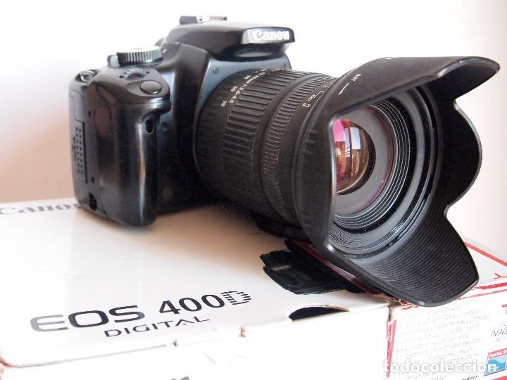 Cámara de fotos: CANON EOS 400D DIGITAL + OBJETIVO SIGMA 17-70 2,8-4,5 + 2 BATERIAS + CARGADOR + 2 TARJETAS MEMORIA - Foto 6 - 142813198