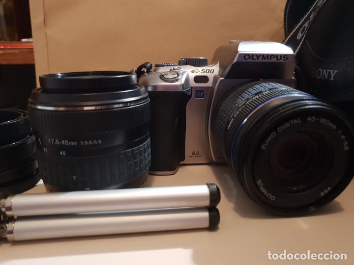 Cámara de fotos: maquina de fotos reflex olimpus,esta nueva.modelo E-500,tripode y otro lente aparte - Foto 2 - 143852166
