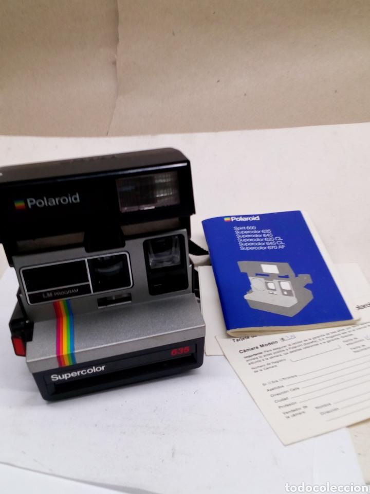 Cámara de fotos: Camara Polaroid Supercolor 635 en su caja con instrucciones año 1989 - Foto 3 - 144461889
