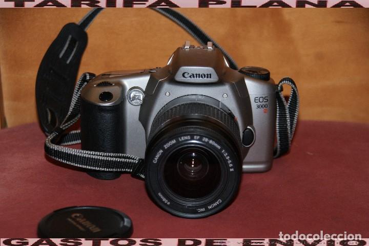 CAMARA DE FOTOS ANALOGICA REFLEX CANON EOS 3000 CON OBJETIVO 28 - 80 1: 3.5 - 5.6 USADA TAL Y COMO (Cámaras Fotográficas - Réflex (autofoco))