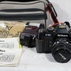 Cámara de fotos: NIKON AF-501 + OBJETIVO NIKON SB-20. Lote 153759098