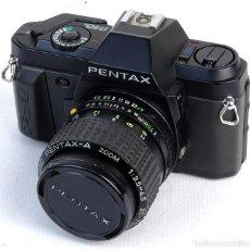 Cámara de fotos: CÁMARA ANALÓGICA PENTAX P30N-CON OBJETIVO MACRO 70MM. Lote 154016398