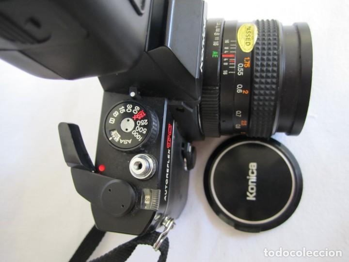 Cámara de fotos: cámara konika autoreflex tc + flash elect e-300 + bolsa transporte - Foto 3 - 159617446