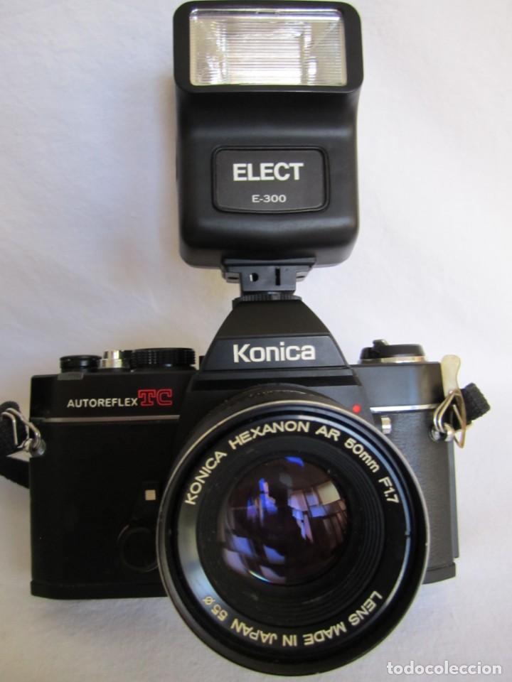 Cámara de fotos: cámara konika autoreflex tc + flash elect e-300 + bolsa transporte - Foto 4 - 159617446