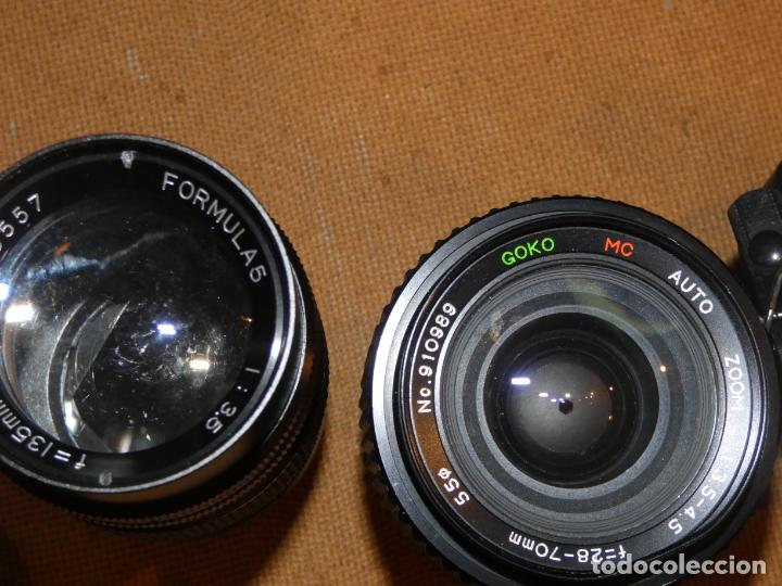 Cámara de fotos: Camara cosina 4000 S, cosinon. objetivos 200 Goko,formulas, panassonic PE, flash, fundas - Foto 13 - 159960558