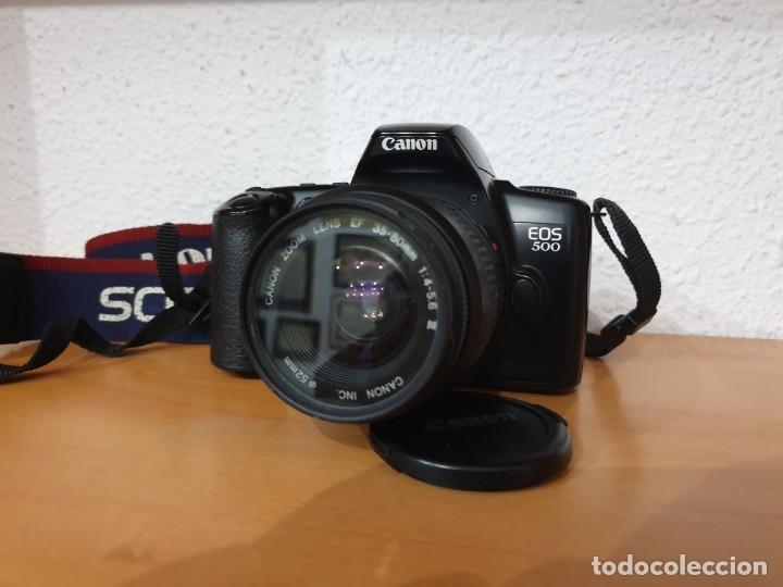 CÁMARA REFLEX AUTOFOCUS CANON EOS 500. OBJETIVO 35/80MM 52 (Cámaras Fotográficas - Réflex (autofoco))
