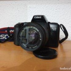 Cámara de fotos: CÁMARA REFLEX AUTOFOCUS CANON EOS 500. OBJETIVO 35/80MM 52. Lote 160021718