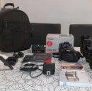 Cámara de fotos: CANON 750D COMO NUEVA + OBJETIVOS + ACCESORIOS. Lote 160109422