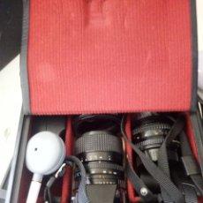 Cámara de fotos: CAMARA REFLEX MINOLTA X-300 Y DOS OBJETIVOS FUNDA. Lote 160136262