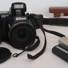 Cámara de fotos: CÁMARA FOTOGRÁFICA NIKON COOLPIX 5700 + CARGADOR + 2 BATERÍAS + 2 CABLES, UNO SISTEMA AMERICANO. Lote 164818150