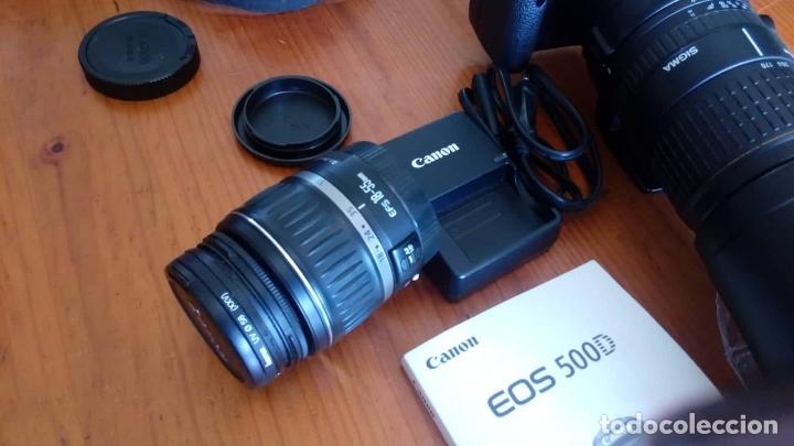 Cámara de fotos: CAMARA CANON EOS 500D +OBJETIVO - Foto 2 - 166793206