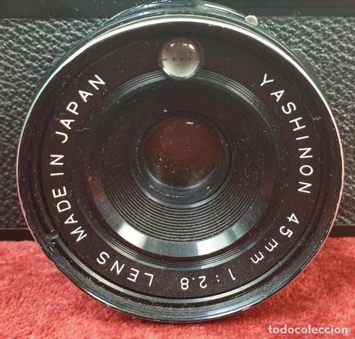 Cámara de fotos: CÁMARA FOTOGRAFICA. YASHICA MODELO MG-1. TELEMÉTRICA. INCLUYE FLASH. JAPÓN. 1975. - Foto 6 - 168025696