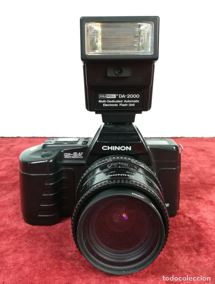 CÁMARA FOTOGRÁFICA. CHINON CP-9AF. MULTI-PROGRAM (CIRCA 1988) JAPÓN (Cámaras Fotográficas - Réflex (autofoco))