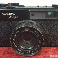Cámara de fotos: CÁMARA FOTOGRAFICA. YASHICA MODELO MG-1. TELEMÉTRICA. INCLUYE FLASH. JAPÓN. 1975.. Lote 168057820