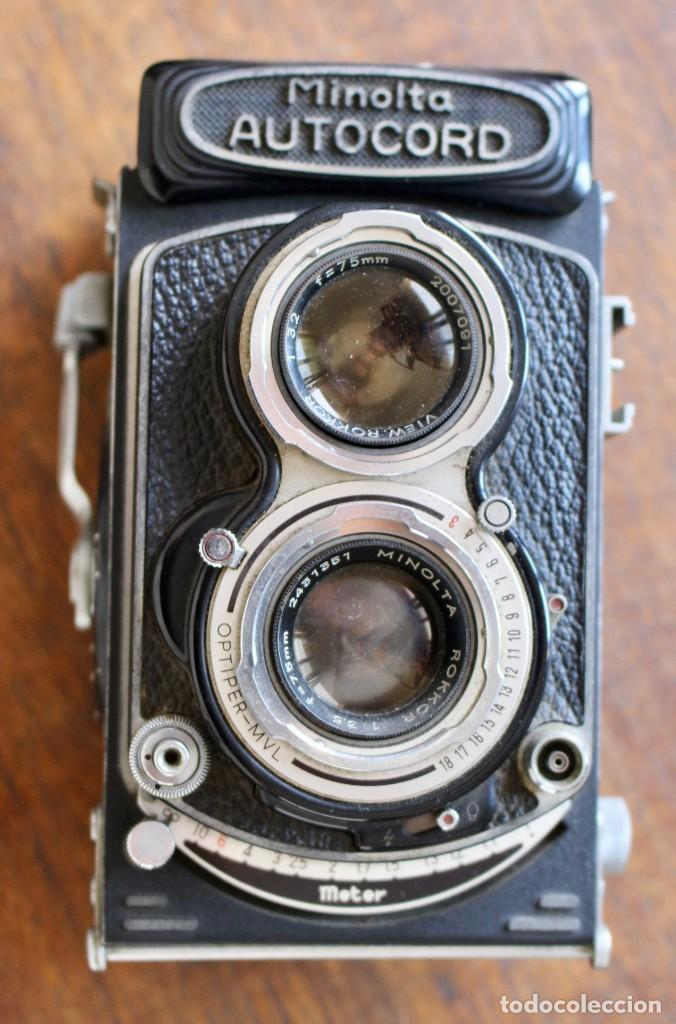 Cámara de fotos: Cámara réflex de lente Minolta autocord Doble Con Rokkor 75mm f/3.5 Lente de Japón - Foto 2 - 278181448