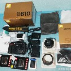Cámara de fotos: CÁMARA RÉFLEX NIKON D810 + 50MM FX 1.4 + BATERÍAS Y CARGADORES. (FOTO Y VIDEO). Lote 173134023