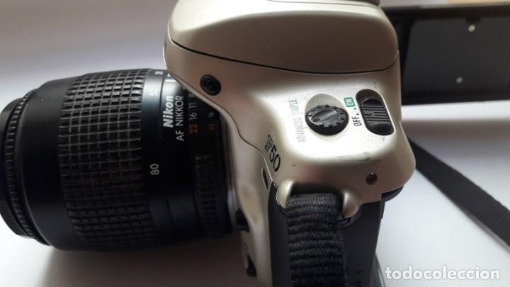 Cámara de fotos: CÁMARA NIKON F50 EN PERFECTO ESTADO CON OBJETIVO NIKKOR 35/80 MM Y BATERÍA RECARGABLE. - Foto 8 - 173562358
