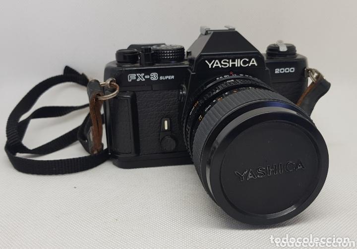 CÁMARA DE FOTOS RÉFLEX YASHICA FX3 SUPER 2000 + FUNDA + OBJETIVO FOTOGRÁFICA - CAR157 (Cámaras Fotográficas - Réflex (autofoco))