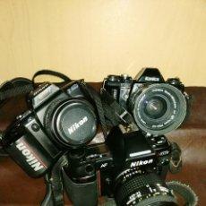 Cámara de fotos: LOTE DOS NIKON F-401 Y N-8008 Y UNA KÓNICA TC-X. Lote 176126739