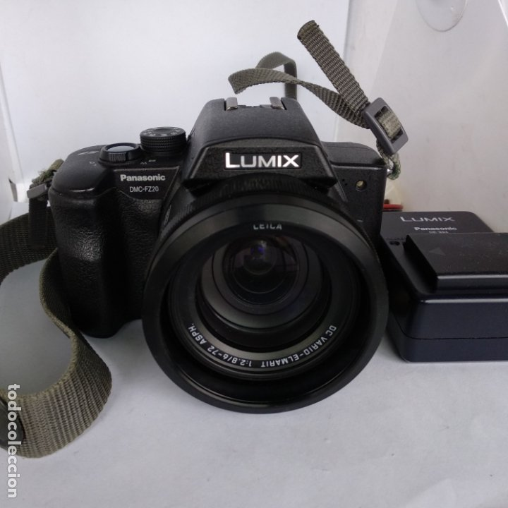 Cámara de fotos: lumix objetivo leica Panasonic dmc-fz20 funcionando 2 baterias+cargador y funda - Foto 2 - 216005973