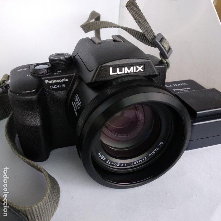 LUMIX OBJETIVO LEICA PANASONIC DMC-FZ20 FUNCIONANDO 2 BATERIAS+CARGADOR Y FUNDA (Cámaras Fotográficas - Réflex (autofoco))