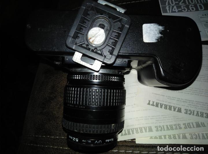 Cámara de fotos: EQUIPO FOTOGRÁFICO NIKON. CÁMARA F-401. OBJETIVOS Y ACCESORIOS - Foto 7 - 180232021