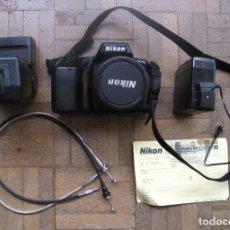 Cámara de fotos: CÁMARA NIKON F70, 28-80 MM. ANALÓGICA, REFLEX. CON FLASH, FOTÓMETRO Y MOCHILA.. Lote 180462268