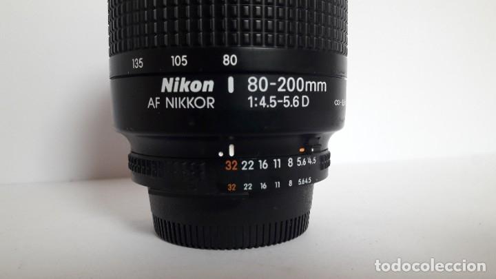 Cámara de fotos: OBJETIVO 80/200 MM PARA CÁMARA REFLEX NIKON F50 EN PERFECTO ESTADO - Foto 3 - 180504423