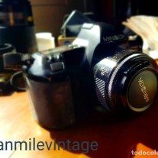 Cámara de fotos: MINOLTA SLR DYNAX 3000I + FLASH PROGRAM D-136I + BOLSA. Lote 182598601