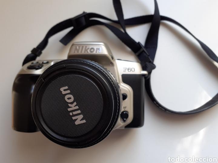 Cámara de fotos: Camara analógica reflex nikon f60 - cuerpo, objetivo 38-80mm, funda e instrucciones. Buen estado - Foto 2 - 183479363