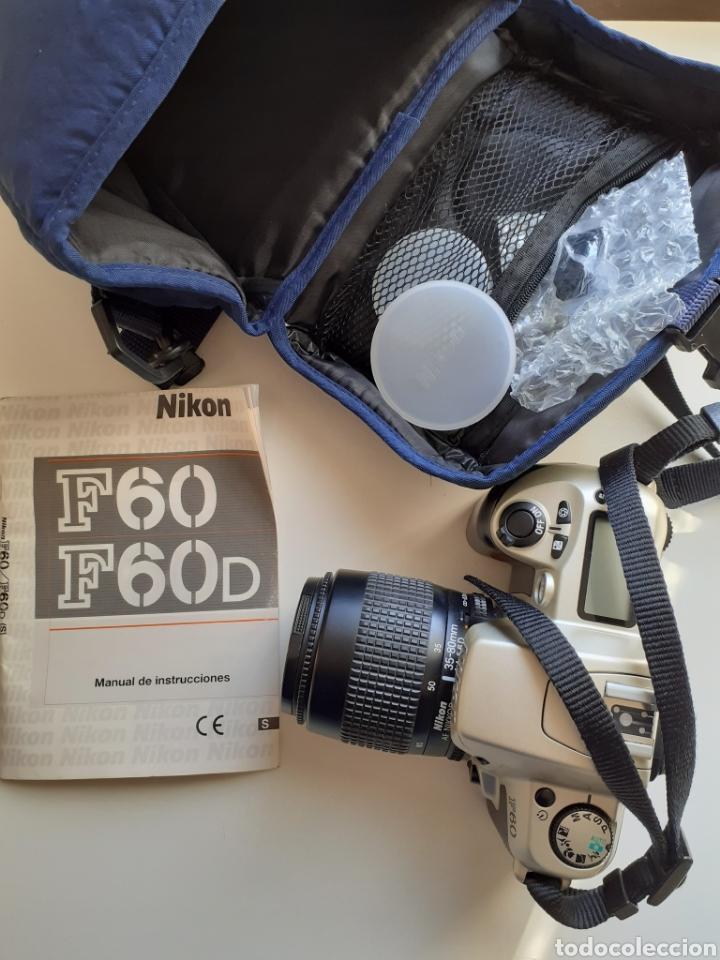 Cámara de fotos: Camara analógica reflex nikon f60 - cuerpo, objetivo 38-80mm, funda e instrucciones. Buen estado - Foto 3 - 183479363