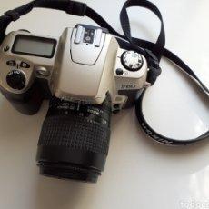 Cámara de fotos: CAMARA ANALÓGICA REFLEX NIKON F60 - CUERPO, OBJETIVO 38-80MM, FUNDA E INSTRUCCIONES. BUEN ESTADO. Lote 183479363