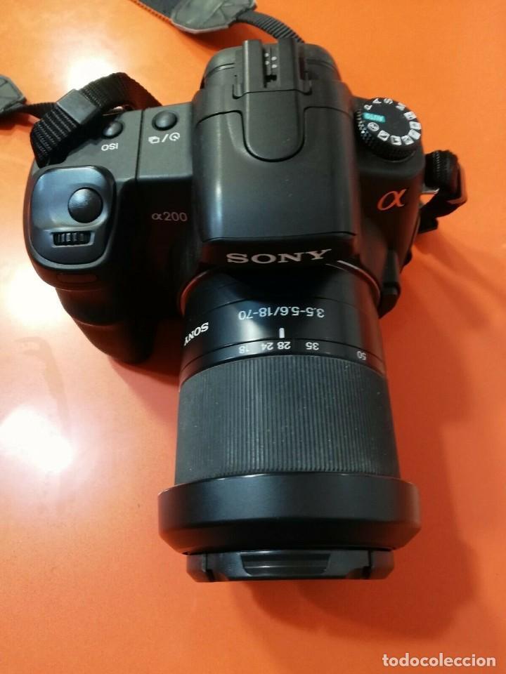 Cámara de fotos: Cámara Reflex sony a200 con zoom incluido DT 3.5-5.6/18-70 - Foto 2 - 188578660