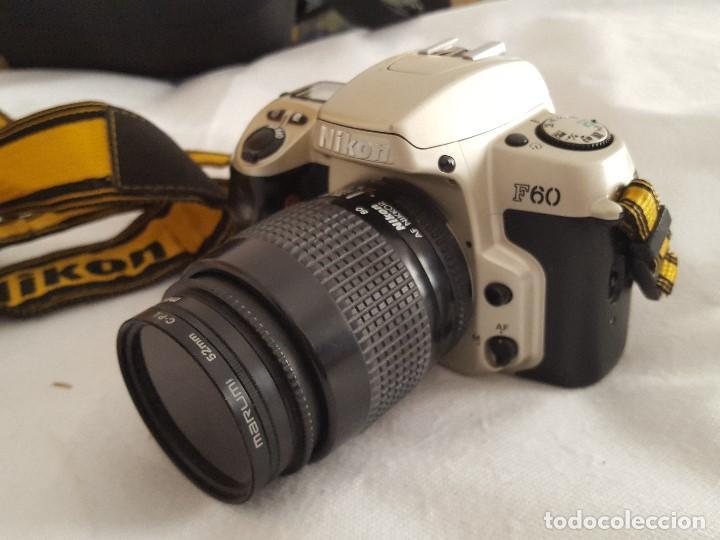 Cámara de fotos: CAMARA NIKON F60 OBJETIVO NIKON AF NIKKOR 35-80mm. 1:4-5.6D CON BOLSO TRANSPORTE Y ACCESORIOS - Foto 5 - 189977282