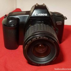 Cámara de fotos: CAMARA CANON EOS 1000 CON OBJETIVO CANON 4/5.6 ZOOM 35/80MM. Lote 192474397