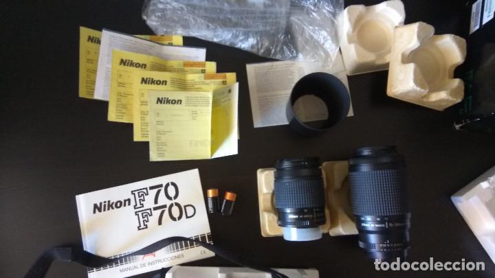 Cámara de fotos: NIKON F70 EN CAJA+ 2 OBJETIVOS + ACCESORIOS INSTRUCCIONES ETC - Foto 8 - 195105988