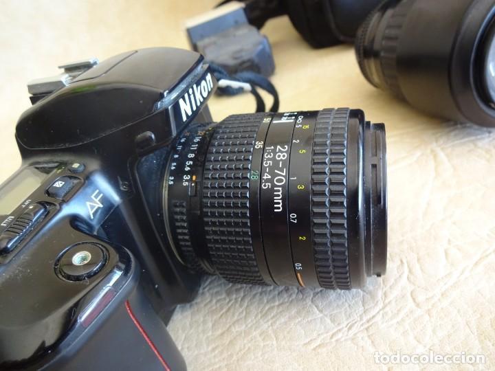 Cámara de fotos: camara nikon af f-601 con 3 objetivos nikkor 28-70mm sigma 70-300 dl macro tamron af 70-210 - Foto 3 - 195654315