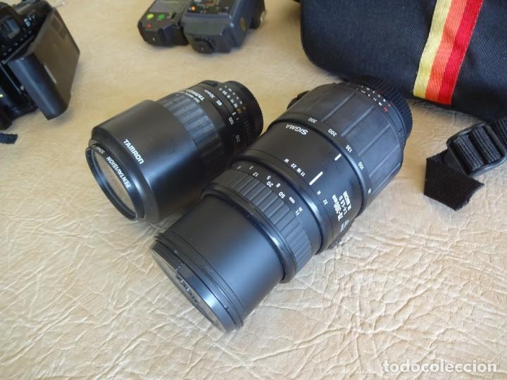Cámara de fotos: camara nikon af f-601 con 3 objetivos nikkor 28-70mm sigma 70-300 dl macro tamron af 70-210 - Foto 12 - 195654315