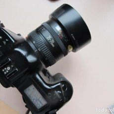 Cámara de fotos: CANON EOS-1 CON MOTOR + ZOOM CANON EOS AF 35-70 MM./3,5-4,5 + FLASH CANON SPEEDLITE 420 EZ + MANUAL. Lote 197676322