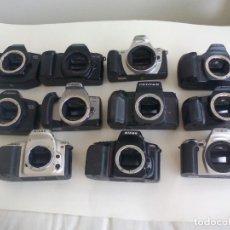 Cámara de fotos: 11 CUERPOS DE CÁMARA CANON EOS 650,850,300,300X,EF-M,NIKON F50, MINOLTA 500SI,MAX3000,404SI,PENTAX. Lote 198488968