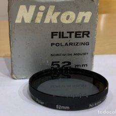 Cámara de fotos: FILTRO POLARIZADOR 52MM NIKON. Lote 198528313