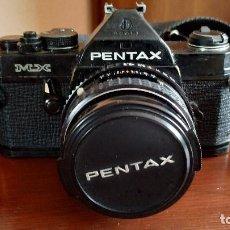 Câmaras de fotos: CÁMARA MX PENTAX CON 3 OBJETIVOS Y COMPLEMENTOS.. Lote 199411752