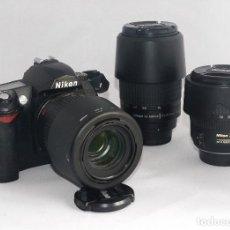 Cámara de fotos: EQUIPO COMPLETO, NIKON DIGITAL,D70. Lote 202542858